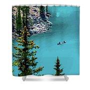 Moraine Lake - 2 Shower Curtain