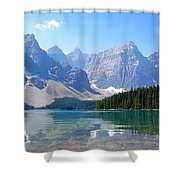 Moraine Lake Down Low Shower Curtain