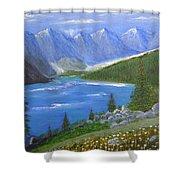 Moraine Lake, 16x20, Oil, '07 Shower Curtain