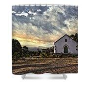 Moravian Sunset Shower Curtain