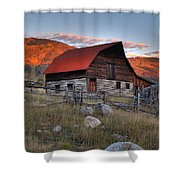 More Barn Steamboat Shower Curtain