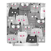 More Cats Shower Curtain
