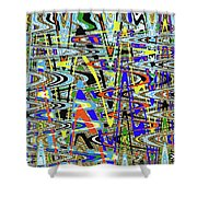 More Colors Abstract Shower Curtain