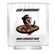 More Dangerous Than A Rattlesnake - Ww2 Shower Curtain