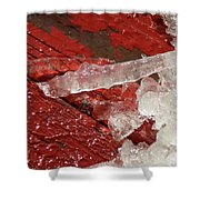 More Fallen Ice Shower Curtain