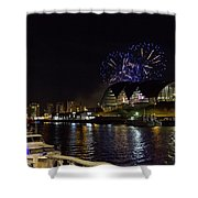 More Fireworks At Newcastle Quayside On New Year's Eve Shower Curtain