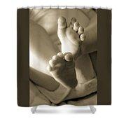 More Little Feet Shower Curtain