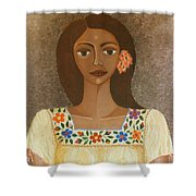 More Than Flowers She Sold Illusions Shower Curtain