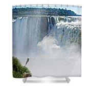 More Waterfalls At Devil's Throat In Iguazu Falls National Park-  Shower Curtain