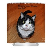More Words From  Teddy The Ninja Cat Shower Curtain