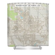 Moreno Valley California Us City Street Map Shower Curtain