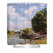 Moret-sur-loing Shower Curtain by Alfred Sisley