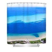 Moreton Island Aerial View Shower Curtain