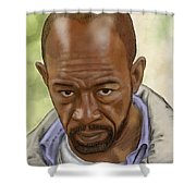 Morgan Shower Curtain by Antonio Romero