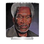 Morgan Freeman Portrait Shower Curtain