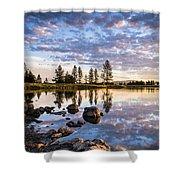 Morgan Lake Sunrise Shower Curtain