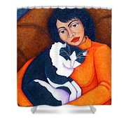 Morgana With Woman Shower Curtain