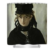 Morisot With A Bouquet Of Violets Shower Curtain