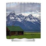 Mormon Row Barn Shower Curtain