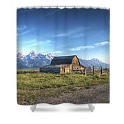 Mormon Row Hdr Shower Curtain
