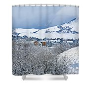 Mormon Tabernacle In Snow II Shower Curtain