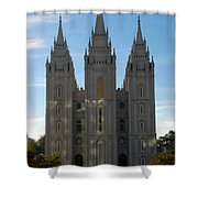 Mormon Temple Fall Shower Curtain