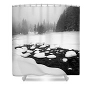 Morn In White Shower Curtain