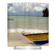 Morne Rouge Boats Shower Curtain