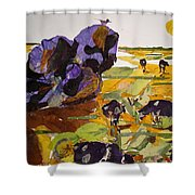 Morning Activities Shower Curtain