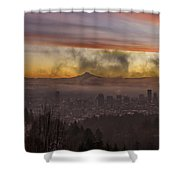 Morning After Christmas Day Shower Curtain