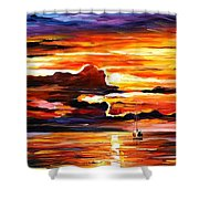 Morning After The Storm - Palette Knife Oil Painting On Canvas By Leonid Afremov Shower Curtain
