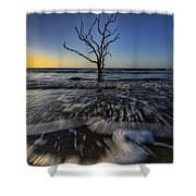 Morning At Botany Bay Plantation Shower Curtain