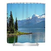 Morning At Lake Maligne, Canada Shower Curtain