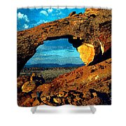 Morning At Landscape Arch Shower Curtain
