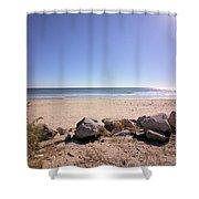 Morning At Qgunquit Beach 2. Shower Curtain