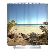 Morning At Qgunquit Beach. Shower Curtain