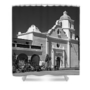 Morning At San Luis Rey Mission Shower Curtain