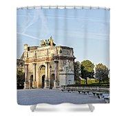 Morning At The Arc De Triomphe Du Carrousel  Shower Curtain