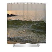 Morning At The Edge Of The Continent Shower Curtain