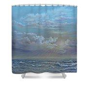 Morning At The Ocean Shower Curtain by Katalin Luczay
