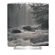 Morning At The River Shower Curtain