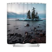 Morning At The Tombolo Shower Curtain