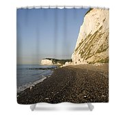 Morning At The White Cliffs Of Dover Shower Curtain