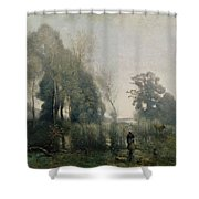 Morning At Ville Davray Shower Curtain