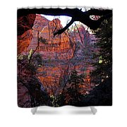 Morning At Zion National Park Shower Curtain