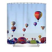 Morning Ballon Rise Shower Curtain