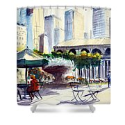 Morning, Bryant Park  Shower Curtain