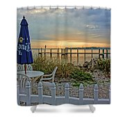 Morning By The Bay Shower Curtain