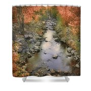 Morning By The Creek Shower Curtain