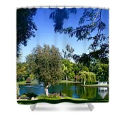Morning By The Lake Shower Curtain
